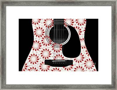 Floral Abstract Guitar 24 Framed Print