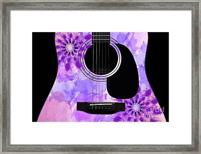 Floral Abstract Guitar 29 Framed Print