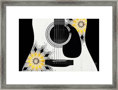 Floral Abstract Guitar 3 Framed Print