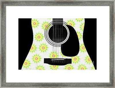 Floral Abstract Guitar 6 Framed Print