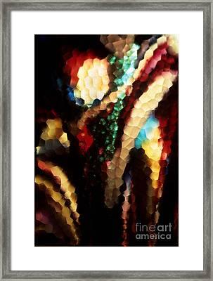 Floral Abstract I Framed Print by Sharon Elliott