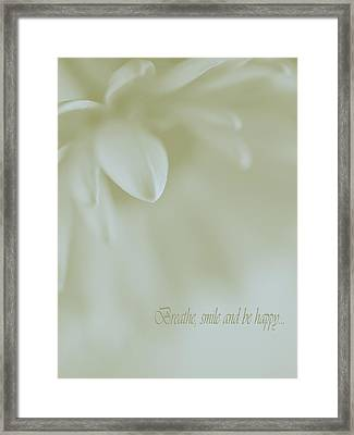 Floral Abstract Peacefulness Framed Print by Irina Wardas