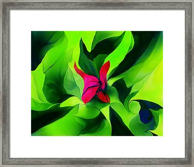 Framed Print featuring the digital art Floral Abstract Play by David Lane