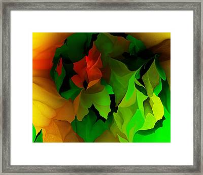 Framed Print featuring the digital art Floral Abstraction 090814 by David Lane