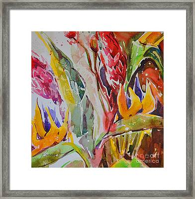 Framed Print featuring the painting Floral Abstraction by Roger Parent