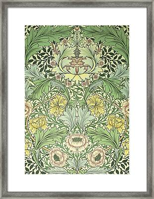 Floral And Foliage Design Framed Print by William Morris