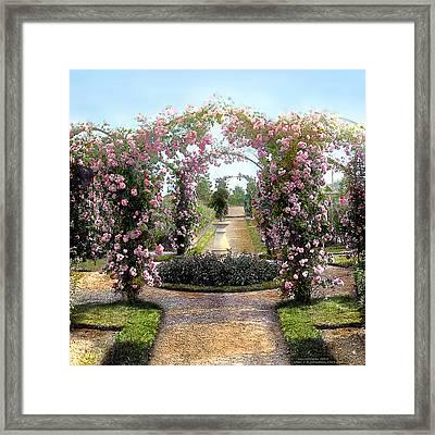 Floral Arch Framed Print