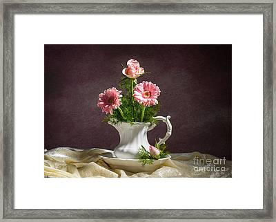 Floral Arrangement Framed Print by Amanda Elwell