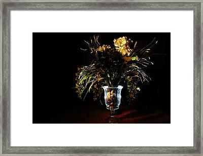 Framed Print featuring the photograph Floral Arrangement by David Andersen