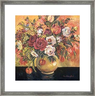 Floral Arrangement Framed Print by Alexandra Maria Ethlyn Cheshire