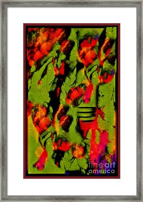 Floral Arrrangement Abstract Framed Print by John Malone