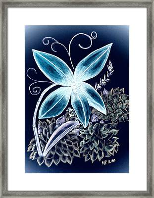 Floral Art 14-3 Framed Print by Maria Urso