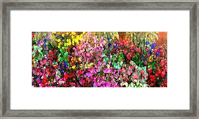 Floral Basket 1  2.4 To 1 Aspect Ratio Framed Print