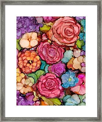 Floral Blanket Framed Print