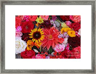 Framed Print featuring the photograph Floral Bounty by Jeanette French