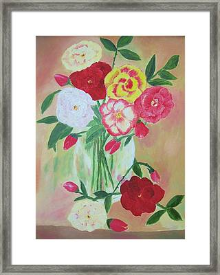 Floral Bouquet Framed Print by Edna Fenske