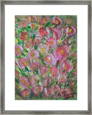 Floral Burst Framed Print