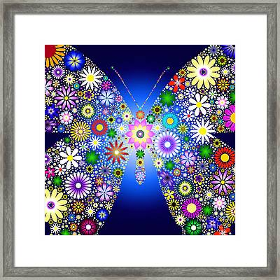 Floral Butterfly Framed Print