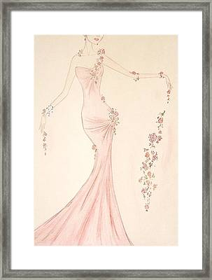 Floral Cascade  Framed Print by Christine Corretti