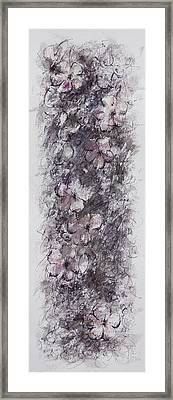 floral cascade II Framed Print by Rachel Christine Nowicki