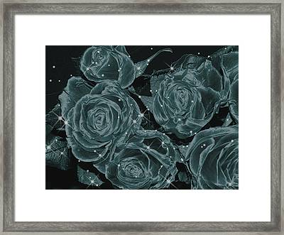 Floral Constellations Framed Print
