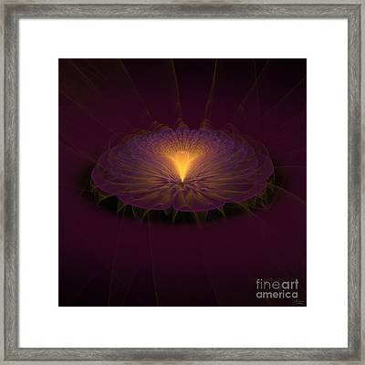 Framed Print featuring the digital art Floral Creation by Arlene Sundby