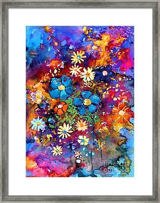 Floral Dance Fantasy Framed Print