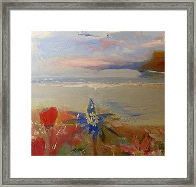 Floral Delight At Blue Bird Bay Framed Print
