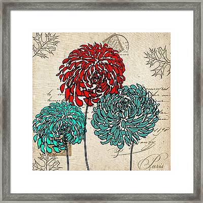 Floral Delight Iv Framed Print by Lourry Legarde