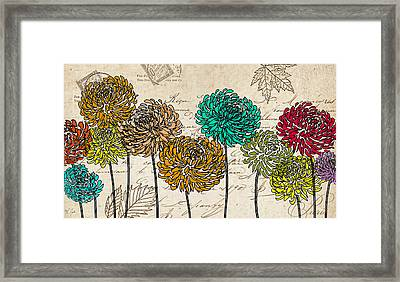 Floral Delight V Framed Print by Lourry Legarde
