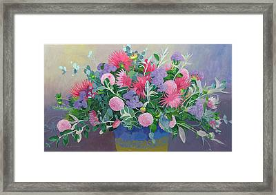 Floral Display Framed Print by William Ireland