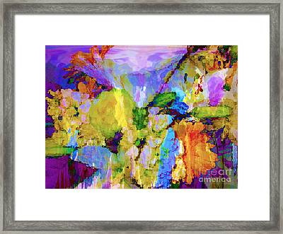 Floral Dreamscape Framed Print by Ann Johndro-Collins