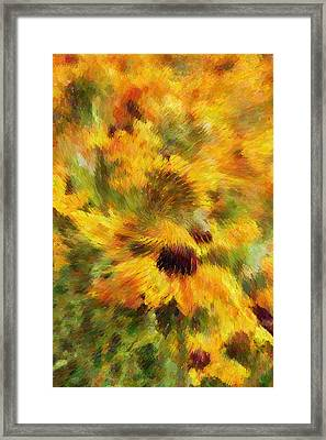 Floral Explosion Abstract Framed Print by Georgiana Romanovna
