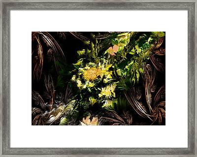 Floral Expression 020215 Framed Print by David Lane