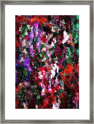 Floral Expression 021015 Framed Print by David Lane