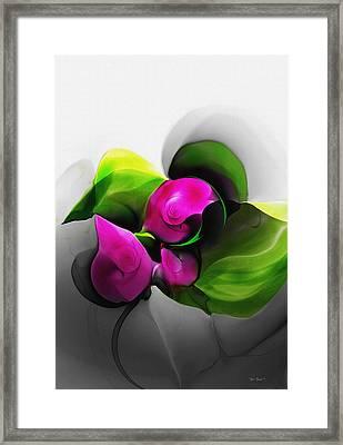 Floral Expression 111213 Framed Print by David Lane