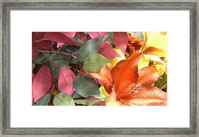 Floral Fall Framed Print
