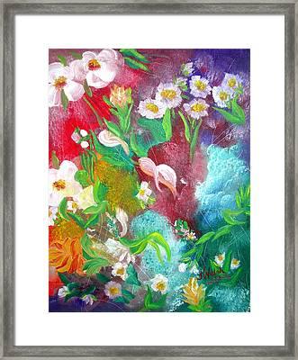 Floral Fantasy Framed Print by Kathern Welsh