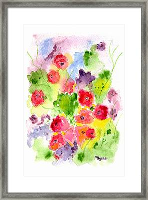 Framed Print featuring the painting Floral Fantasy by Paula Ayers