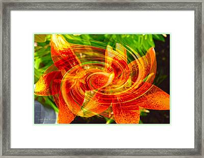 Floral Flow Framed Print by Sonali Gangane