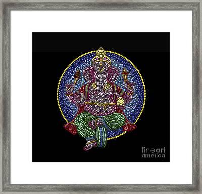 Floral Ganesha Framed Print by Tim Gainey