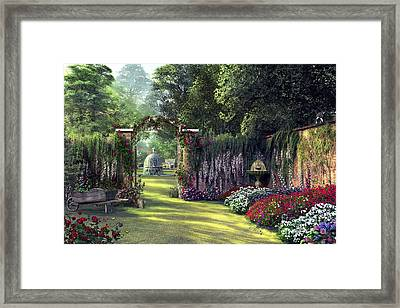 Floral Garden Framed Print by Dominic Davison