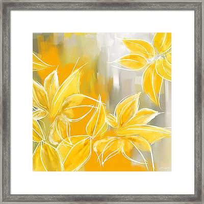 Floral Glow Framed Print by Lourry Legarde