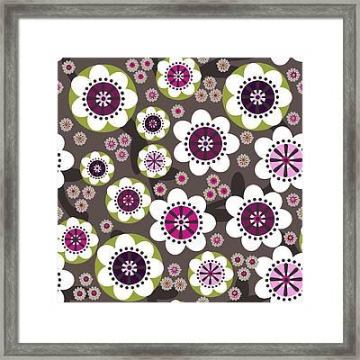 Framed Print featuring the digital art Floral Grunge by Lisa Noneman