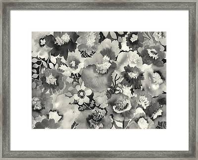 Floral In Black And White Framed Print