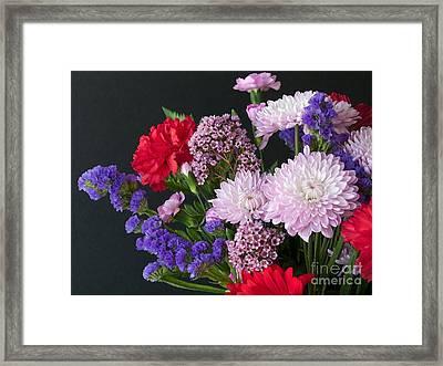Floral Mix Framed Print by Ann Horn