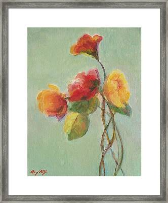 Floral Painting Framed Print by Mary Wolf