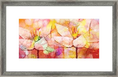 Floral Panoramic Framed Print