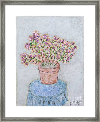 Floral Passion Framed Print by Robyn Louisell
