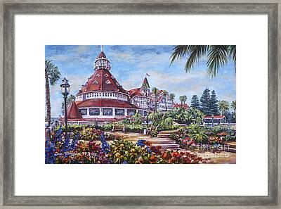 Floral Pathway To The Del Framed Print
